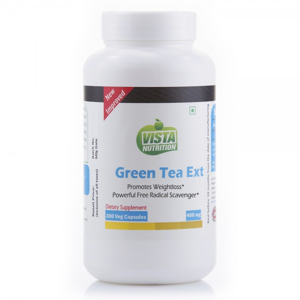 Vista Nutrition Green Tea Extract 400Mg-300 Capsules