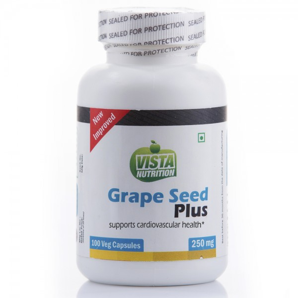 Vista Nutrition Grape Seed Extract 250Mg 100 Capsules