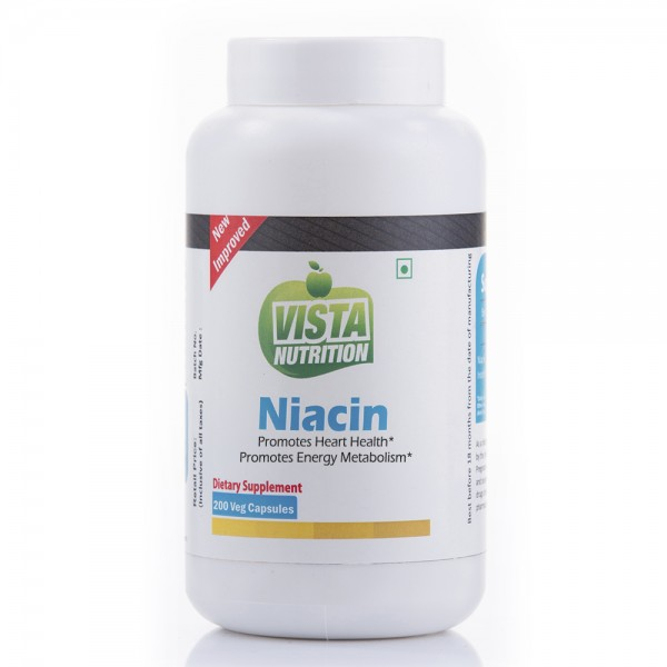 Vista Nutrition Niacin 200 Capsules