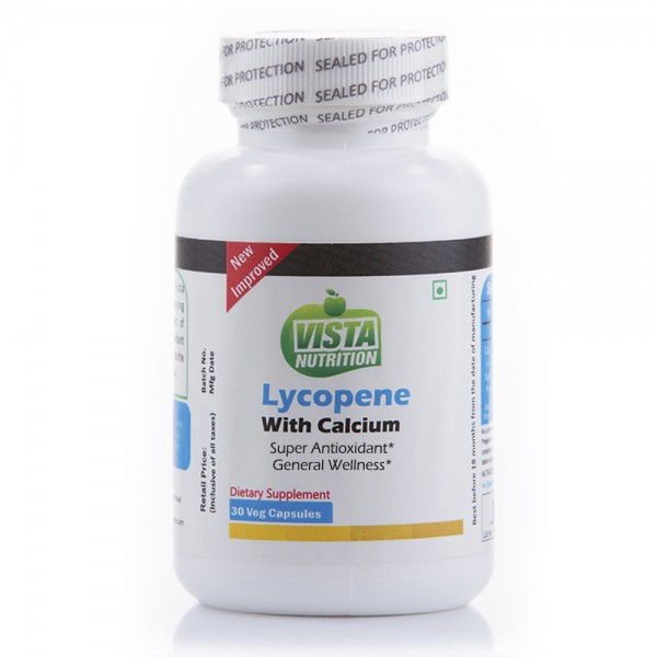 Vista Nutrition Lycopene With Calcium 30 Capsules