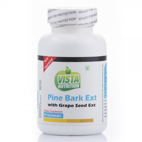 Vista Nutrition Pine Bark Ext With Grape Seed Ext-60 Capsules