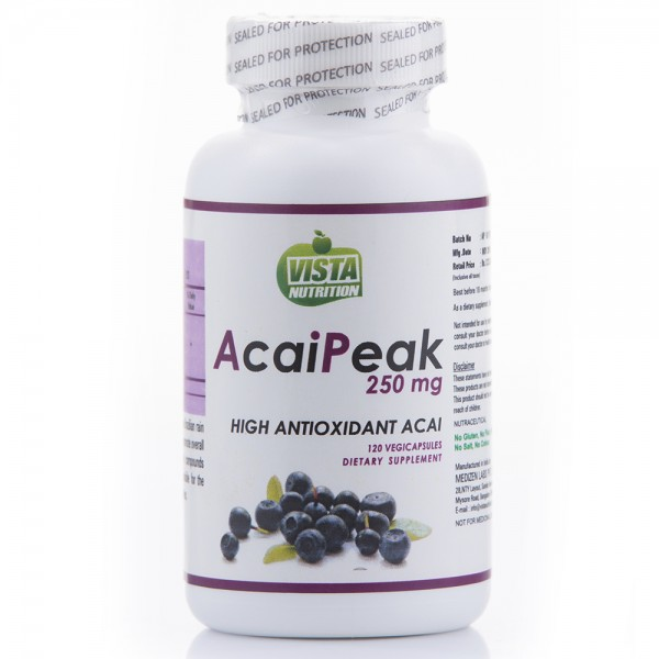 Vista Nutrition Acaipeak 250 Mg- 120 Capsules