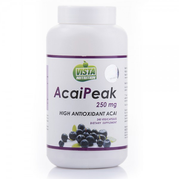 Vista Nutrition Acaipeak 250 Mg- 240 Capsules