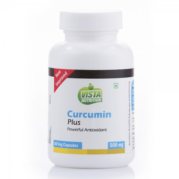 Vista Nutrition Curcumin Plus 500Mg-60 Veg Capsules