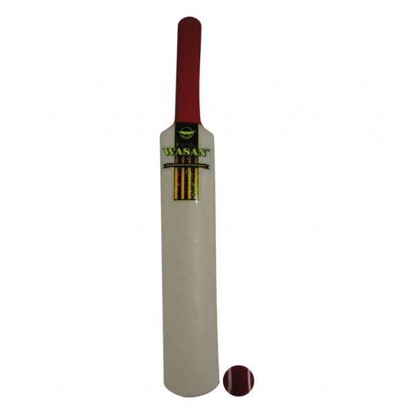 Wasan Midi Bat and Ball Cricket Kit - Yellow