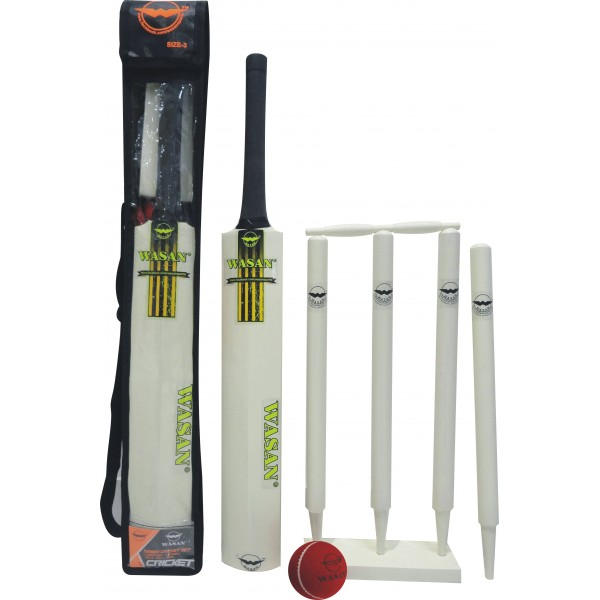 Wasan Cricket Set Size 3 - Yellow Cricket Kit