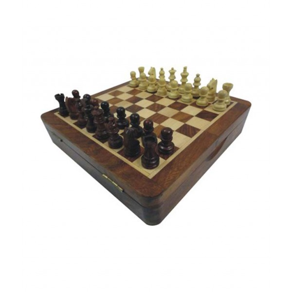 Chopra Chess Top Open Magnetic 7 Inch Chess Board