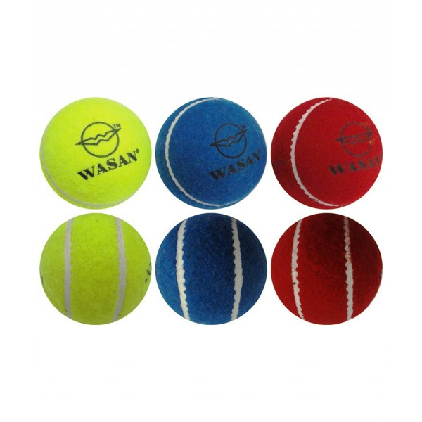 Wasan Tennis Cricket Ball (Pack of 3)