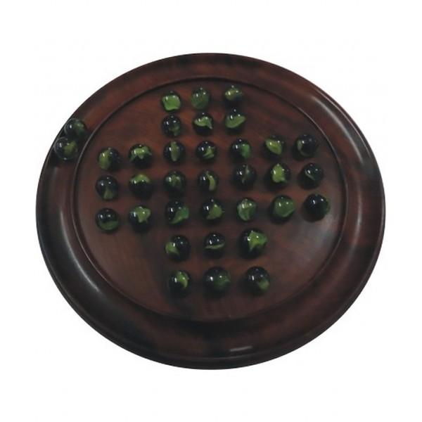 "Chopra Chess Wooden Solitaire 9"""